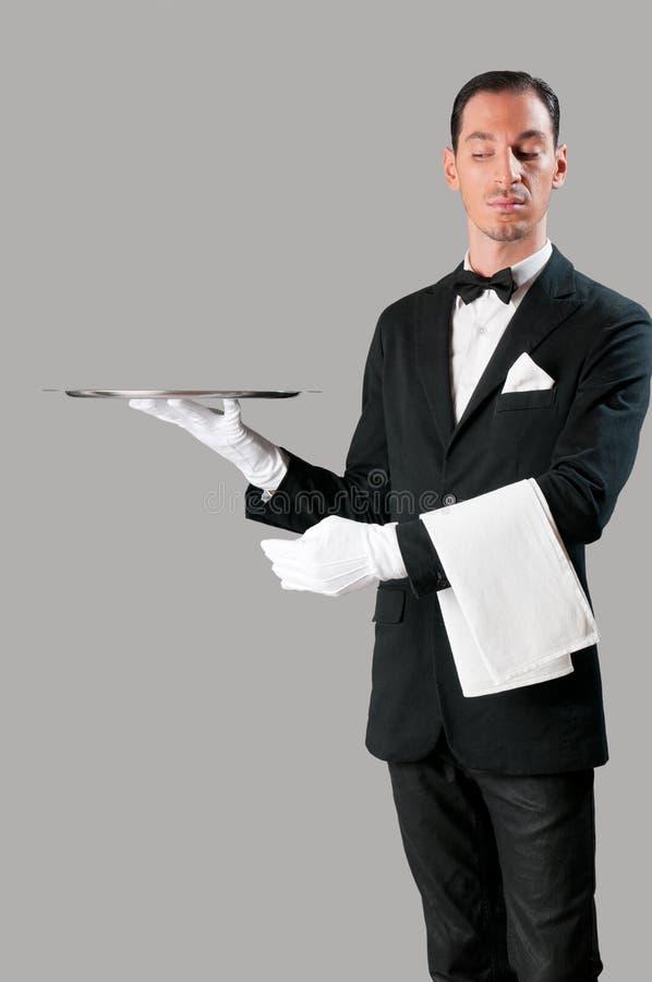 υπεροπτικός σερβιτόρος στοκ εικόνα με δικαίωμα ελεύθερης χρήσης