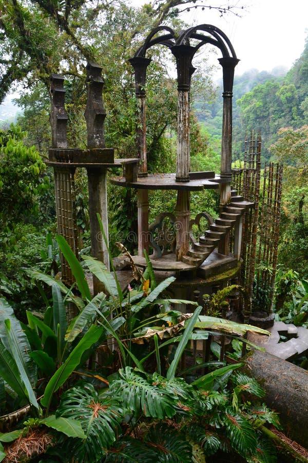 Υπερρεαλιστικός κήπος Las Pozas του James Edward σε Xilitla Μεξικό στοκ εικόνα με δικαίωμα ελεύθερης χρήσης