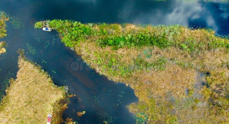 Υπερυψωμένη άποψη της Φλώριδας Everglades στοκ εικόνες