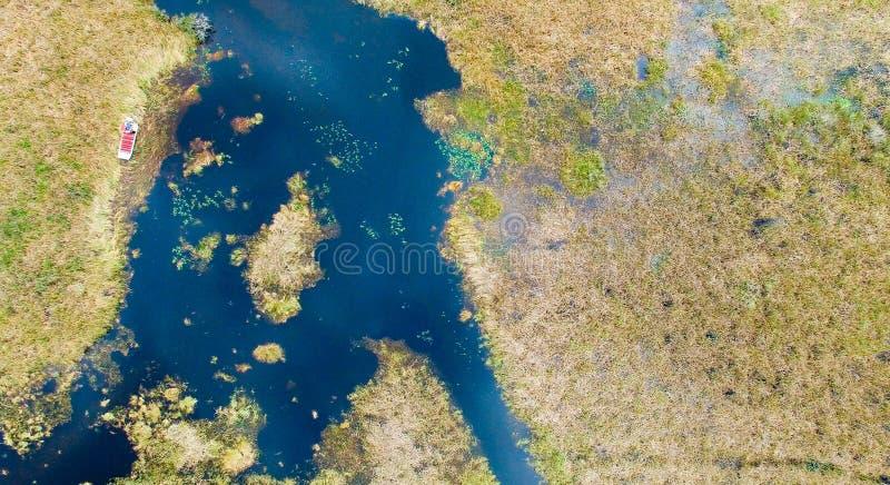 Υπερυψωμένη άποψη της Φλώριδας Everglades στοκ εικόνα με δικαίωμα ελεύθερης χρήσης
