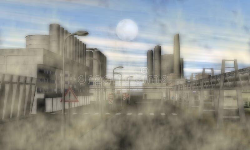 Υπερφυσική βιομηχανική περιοχή διανυσματική απεικόνιση