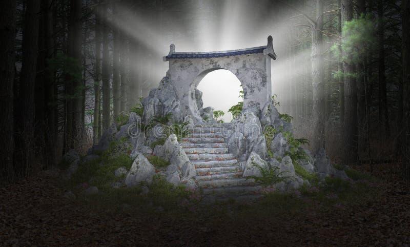Υπερφυσική πύλη επιστημονικής φαντασίας, πύλη, υπόβαθρο στοκ εικόνες με δικαίωμα ελεύθερης χρήσης