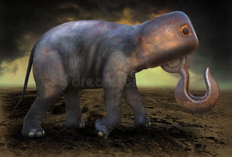 Υπερφυσικός ελέφαντας επιστημονικής φαντασίας φαντασίας στοκ εικόνες