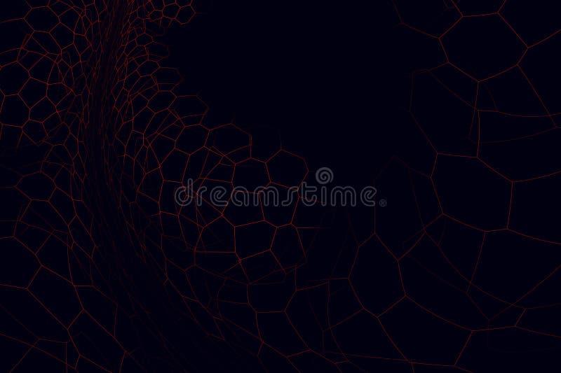 Υπερφυσικό αφηρημένο fractal διανυσματική απεικόνιση