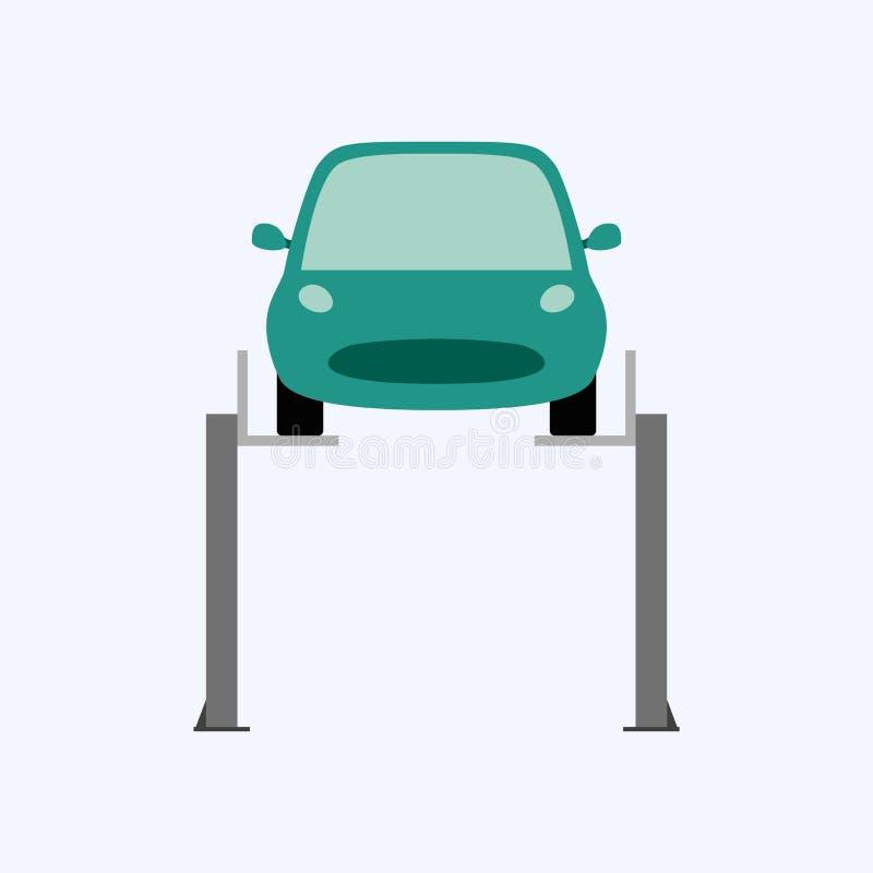 Υπηρεσία αυτοκινήτων και επισκευή, αυτοκίνητο καθορισμού διανυσματική απεικόνιση