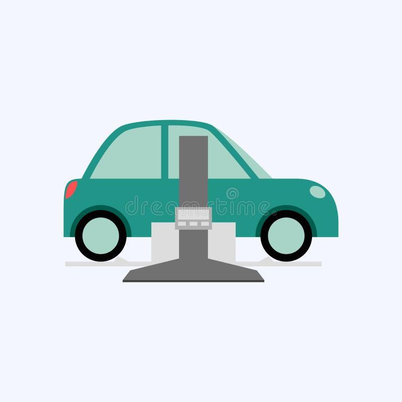 Υπηρεσία αυτοκινήτων και επισκευή, αυτοκίνητο καθορισμού απεικόνιση αποθεμάτων