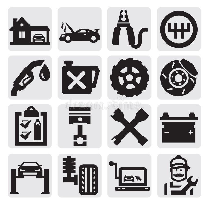 Υπηρεσία αυτοκινήτων διανυσματική απεικόνιση