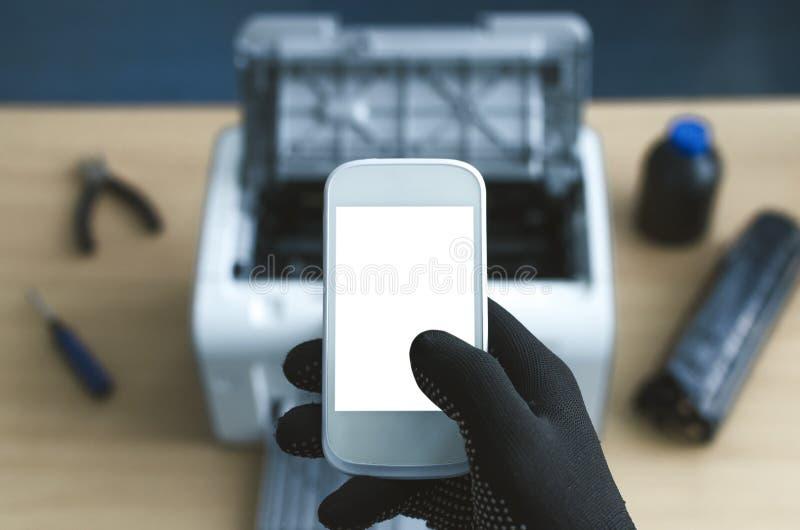 Υπηρεσία επισκευής εκτυπωτών στοκ εικόνα με δικαίωμα ελεύθερης χρήσης
