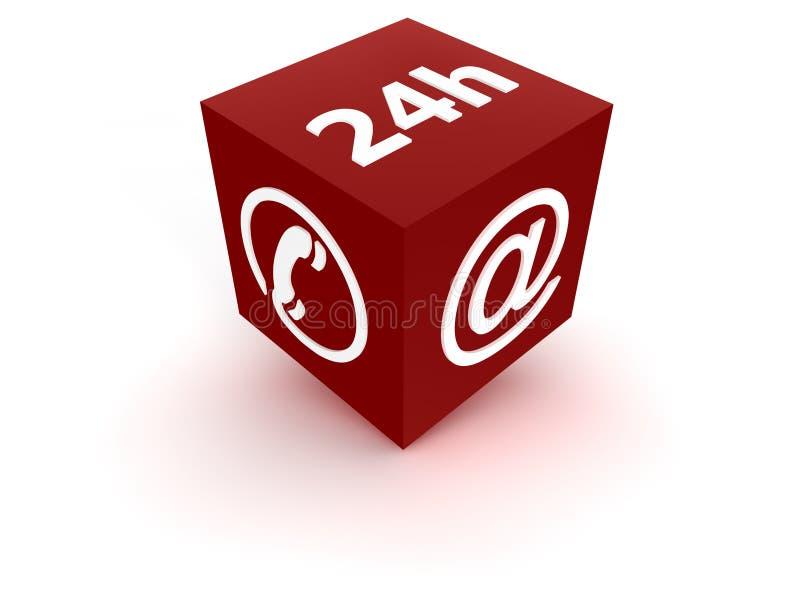 24 υπηρεσία - κόκκινο διανυσματική απεικόνιση