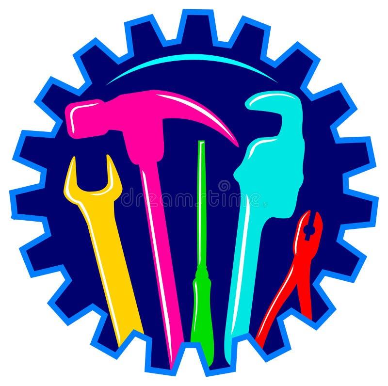 υπηρεσία λογότυπων διανυσματική απεικόνιση