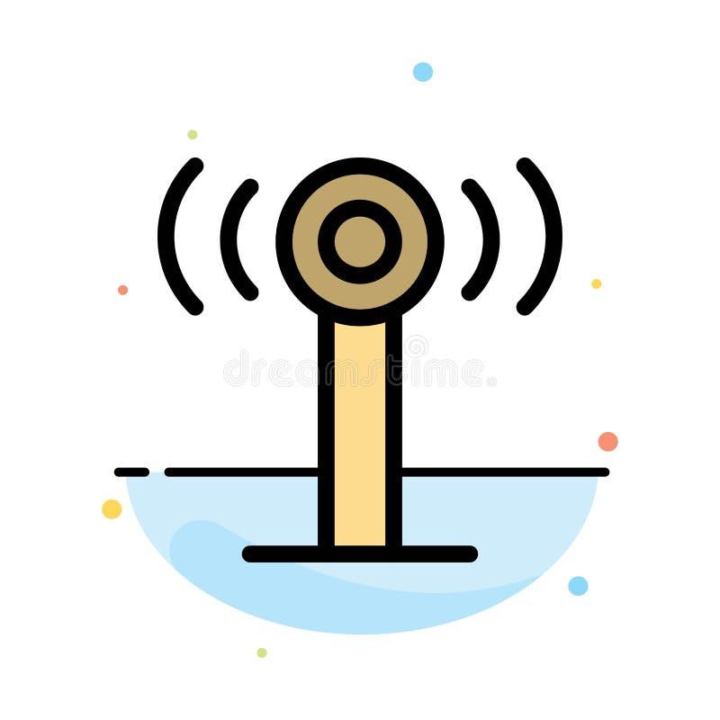 Υπηρεσία, σήμα, αφηρημένο επίπεδο πρότυπο εικονιδίων χρώματος Wifi διανυσματική απεικόνιση