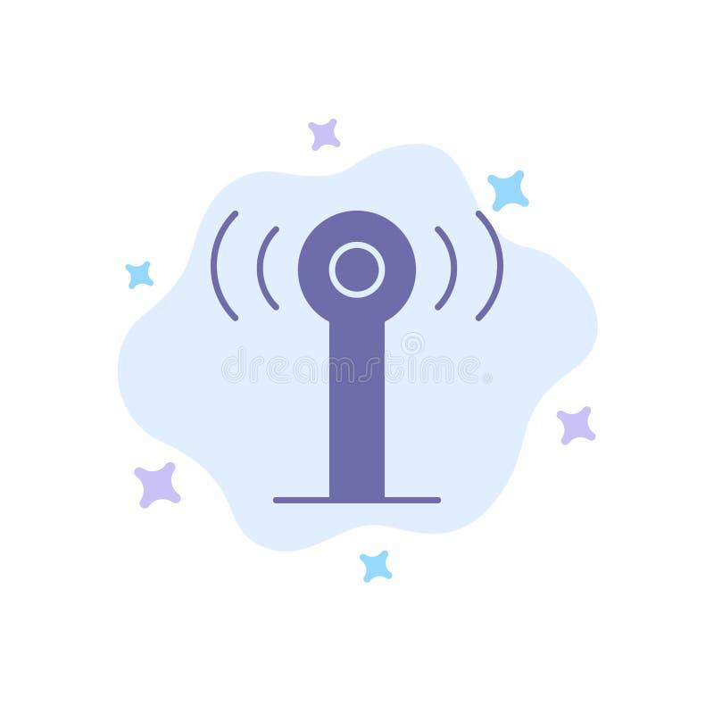 Υπηρεσία, σήμα, μπλε εικονίδιο Wifi στο φόντο αφηρημένου σύννεφου ελεύθερη απεικόνιση δικαιώματος