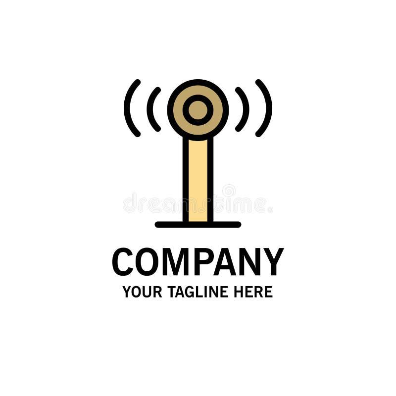 Υπηρεσία, σήμα, πρότυπο επιχειρησιακών λογότυπων Wifi Επίπεδο χρώμα διανυσματική απεικόνιση