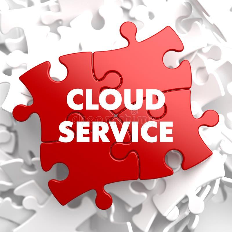 Υπηρεσία σύννεφων στον κόκκινο γρίφο. ελεύθερη απεικόνιση δικαιώματος