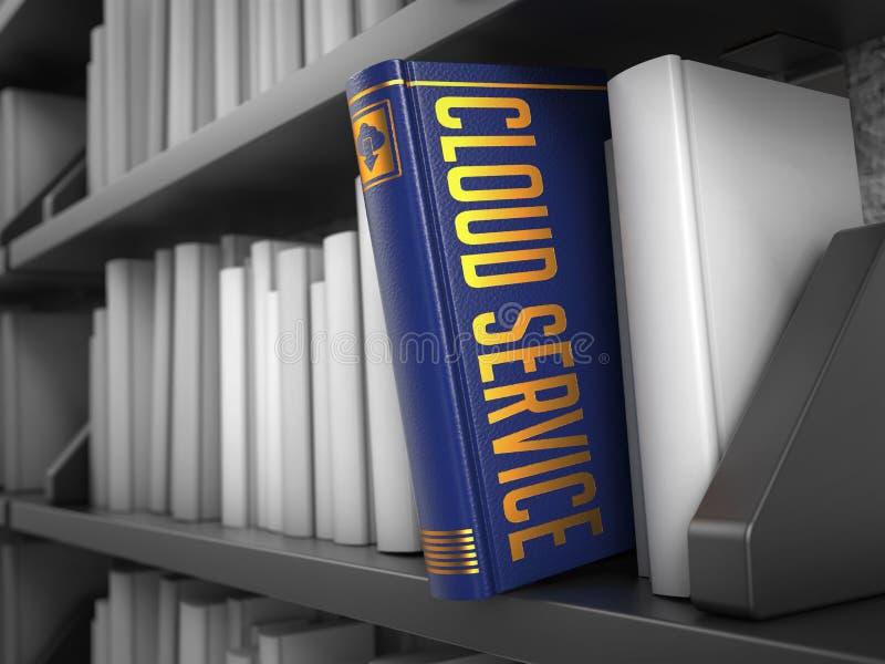 Υπηρεσία σύννεφων - τίτλος του βιβλίου μπλε έννοια Διαδίκτυο χρώματος ανασκόπησης απεικόνιση αποθεμάτων