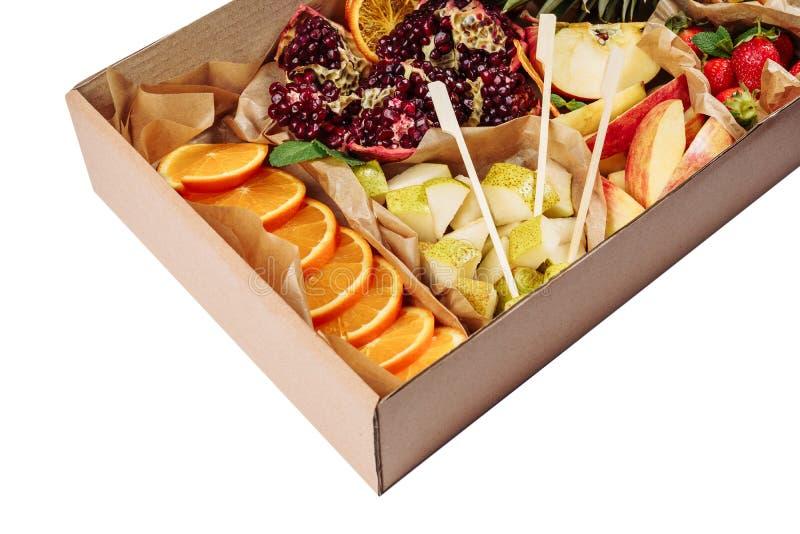 Υπηρεσία τομέα εστιάσεως υποβάθρου μιγμάτων φρούτων και μούρων στοκ εικόνες με δικαίωμα ελεύθερης χρήσης