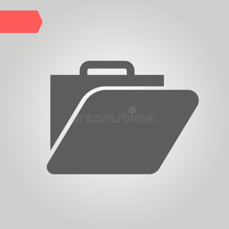 υπηρεσία χαρτοφυλάκιο Επιχείρηση αγορά Διάνυσμα εικονιδίων ιδέας ελεύθερη απεικόνιση δικαιώματος