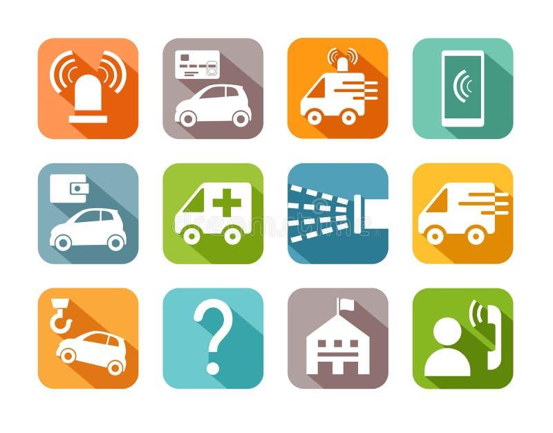 Υπηρεσίες επειγόντων, διακριτικά, χρώμα, επίπεδο, διάνυσμα απεικόνιση αποθεμάτων