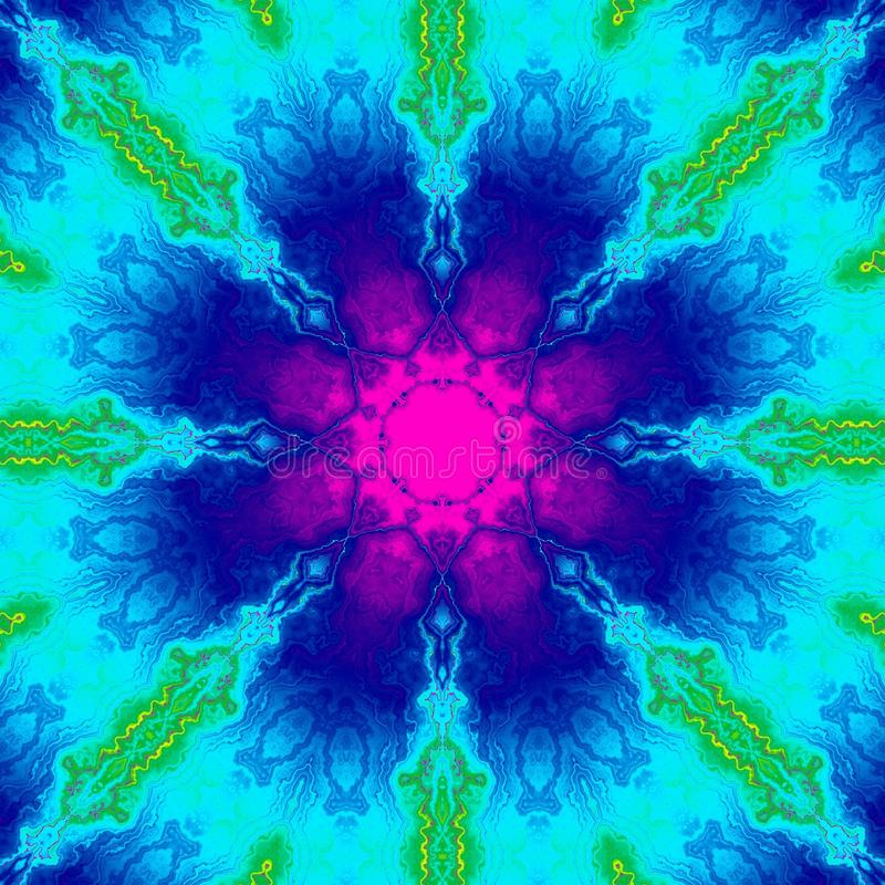 Υπνωτικό αφηρημένο psychedelic υπόβαθρο σχεδίων ζωηρόχρωμος γραφικός διανυσματική απεικόνιση