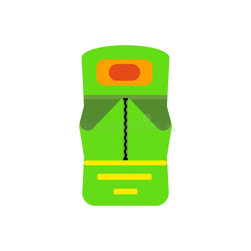Υπνόσακων σημάδι και σύμβολο εικονιδίων διανυσματικό που απομονώνονται στο άσπρο υπόβαθρο, έννοια λογότυπων υπνόσακων διανυσματική απεικόνιση