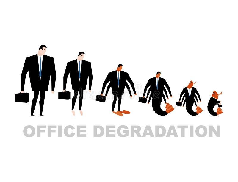 Υποβάθμιση γραφείων Στροφές διευθυντών στο πλαγκτόν γραφείων Άτομο tran ελεύθερη απεικόνιση δικαιώματος