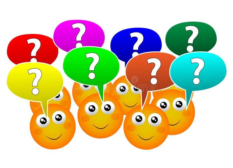 Υποβάλτε τις ερωτήσεις ελεύθερη απεικόνιση δικαιώματος