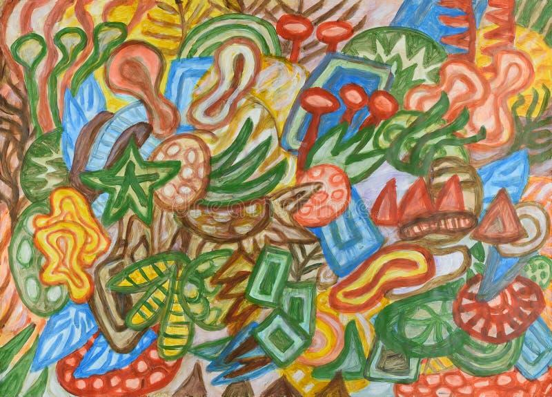 Υποβρύχια παγκόσμια αφηρημένη ζωγραφική ελεύθερη απεικόνιση δικαιώματος