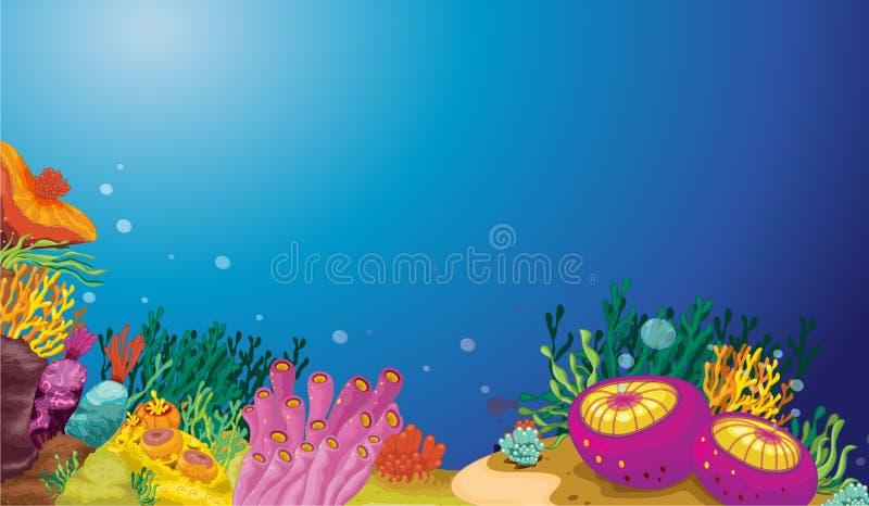Υποβρύχια σκηνή διανυσματική απεικόνιση