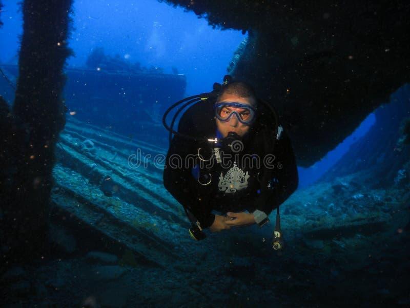 Υποβρύχια συντρίμμια pecem, Ceara, Βραζιλία στοκ φωτογραφίες