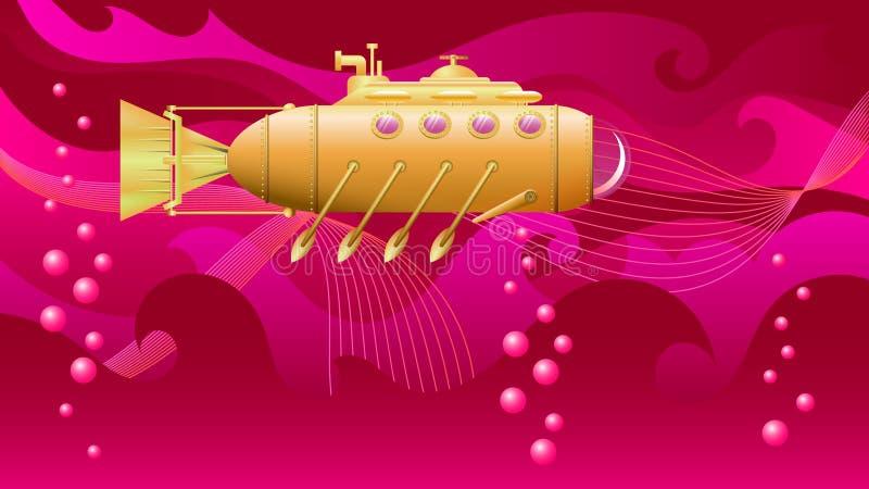 Υποβρύχιο με τα κουπιά στοκ εικόνες με δικαίωμα ελεύθερης χρήσης