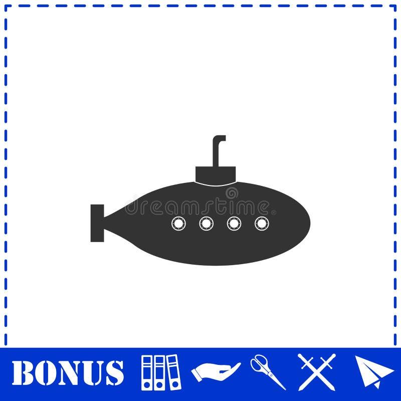 Υποβρύχιο με το εικονίδιο περισκοπίων επίπεδο απεικόνιση αποθεμάτων