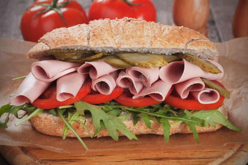 Υποβρύχιο σάντουιτς Baloney στοκ φωτογραφίες