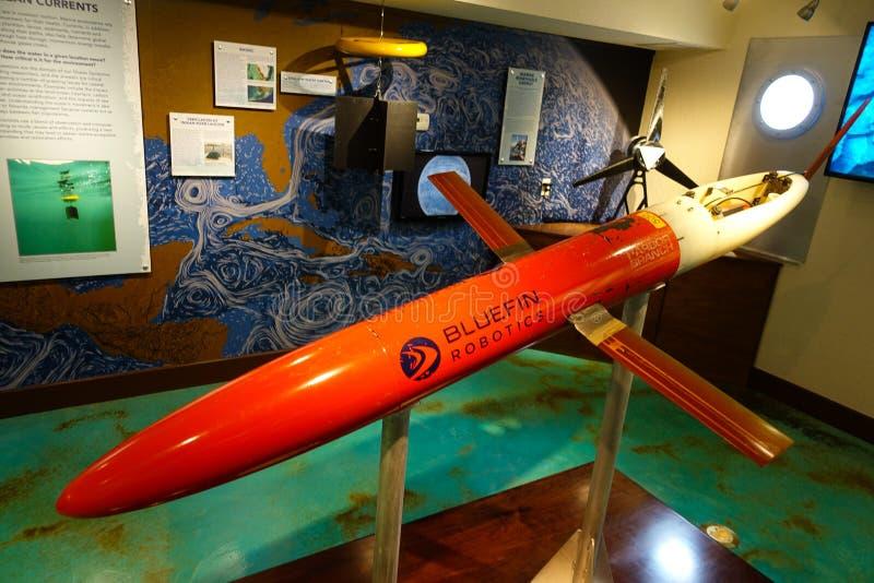 Υποβρύχιο τηλεκατευθυνόμενο όχημα σε ένα μουσείο στοκ εικόνα με δικαίωμα ελεύθερης χρήσης