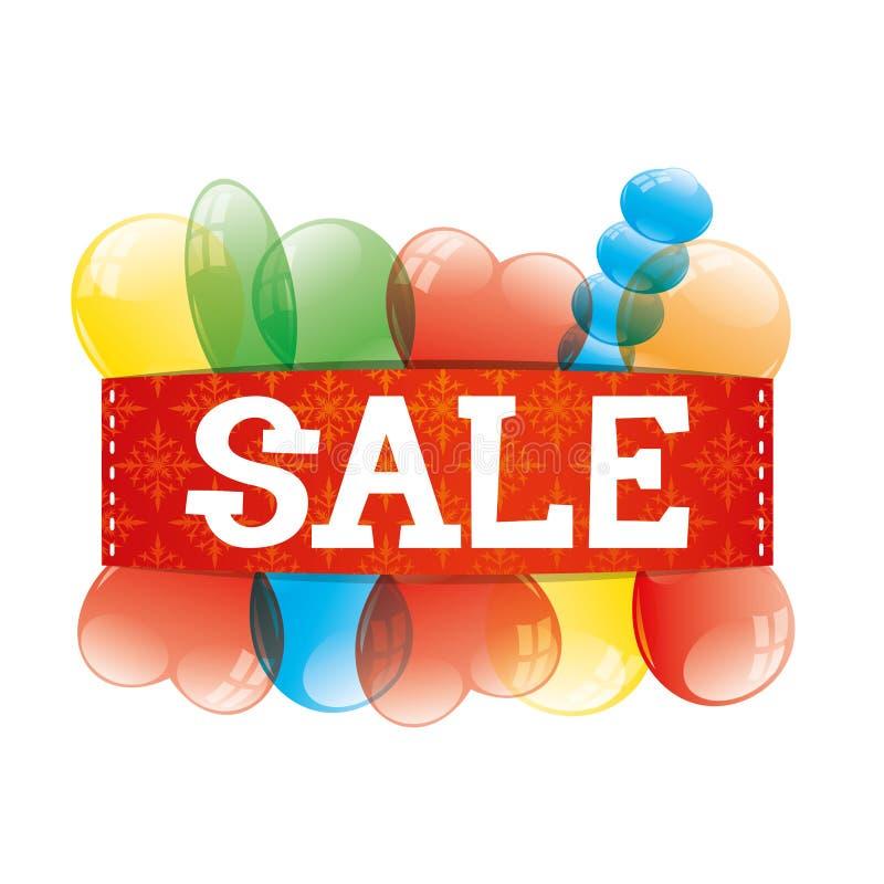 υπογράψτε το διάνυσμα ευτυχές λευκό αγορών πώλησης κοριτσιών Χριστουγέννων ανασκόπησης ελεύθερη απεικόνιση δικαιώματος