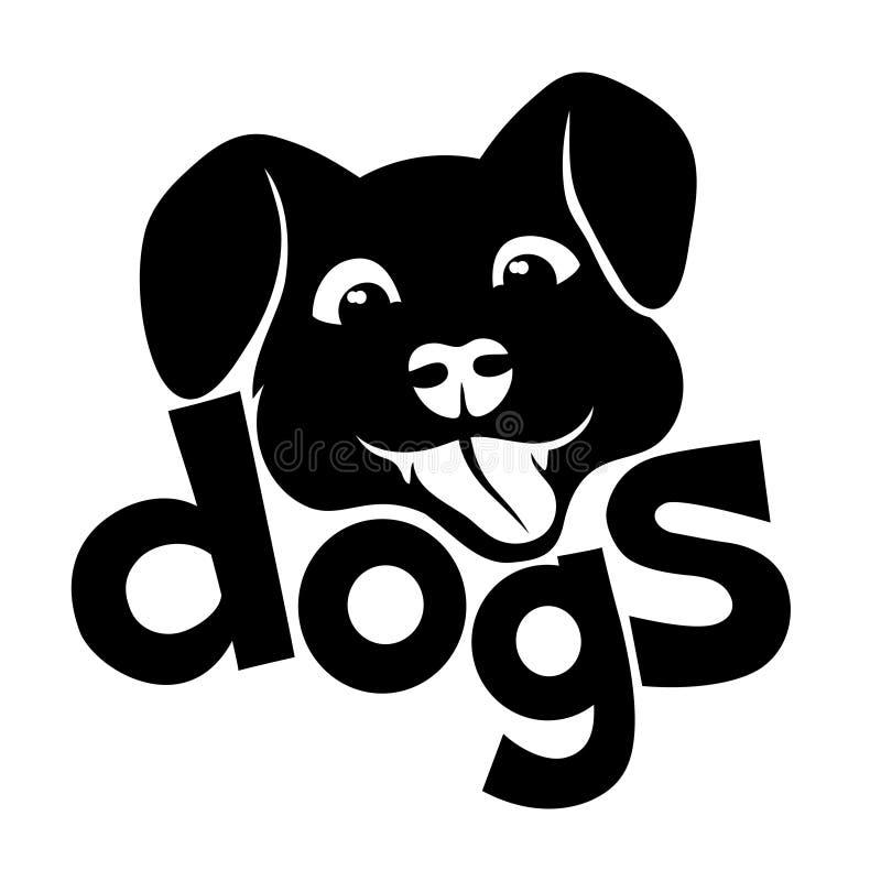 υπογράψτε το διάνυσμα σκυλιά διανυσματική απεικόνιση