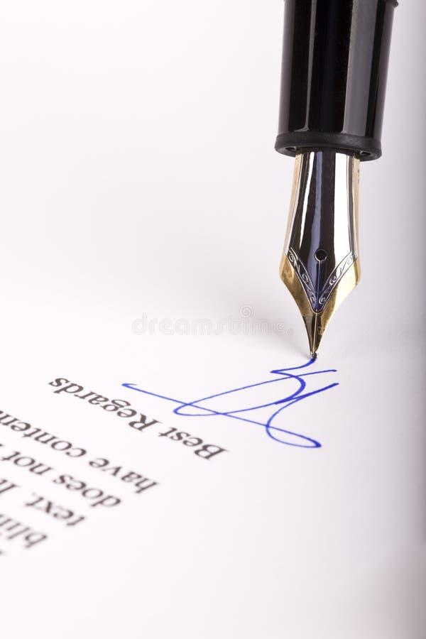 υπογραφή επιστολών στοκ εικόνα