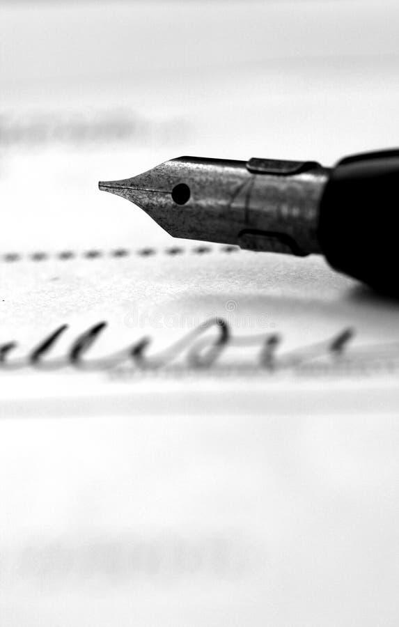 υπογραφή πεννών στοκ εικόνες
