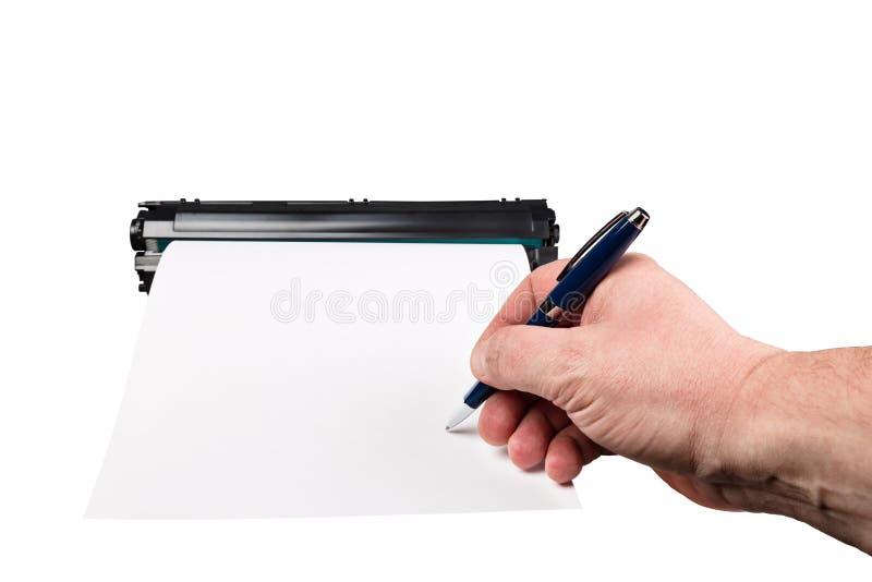 Υπογραφή σε ένα κομμάτι χαρτί στοκ εικόνες με δικαίωμα ελεύθερης χρήσης