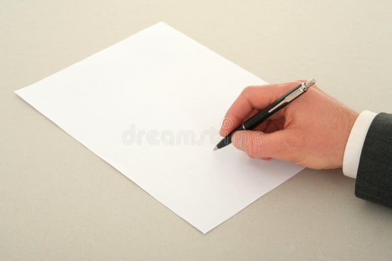 υπογραφή συμβάσεων στοκ εικόνα