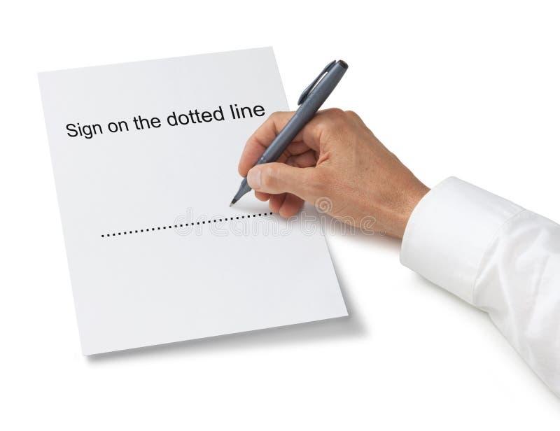 υπογραφή υπογραφών χεριών επιχειρησιακών συμβάσεων στοκ εικόνες