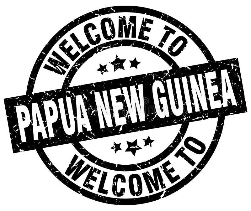 υποδοχή στο γραμματόσημο Παπούα Νέα Γουϊνέα απεικόνιση αποθεμάτων