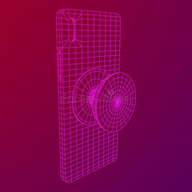 Υποδοχή υποδοχής Smarthone Cellphone Pop απεικόνιση αποθεμάτων