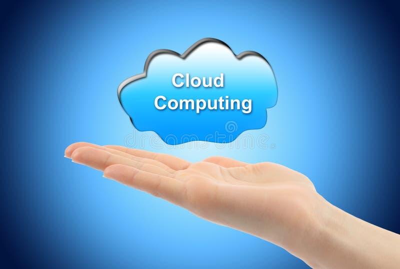 υπολογίζοντας γυναίκα χεριών έννοιας σύννεφων στοκ εικόνες με δικαίωμα ελεύθερης χρήσης