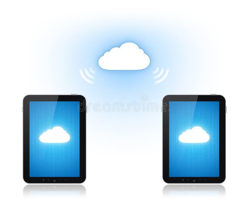 υπολογισμός επικοινωνίας σύννεφων διανυσματική απεικόνιση