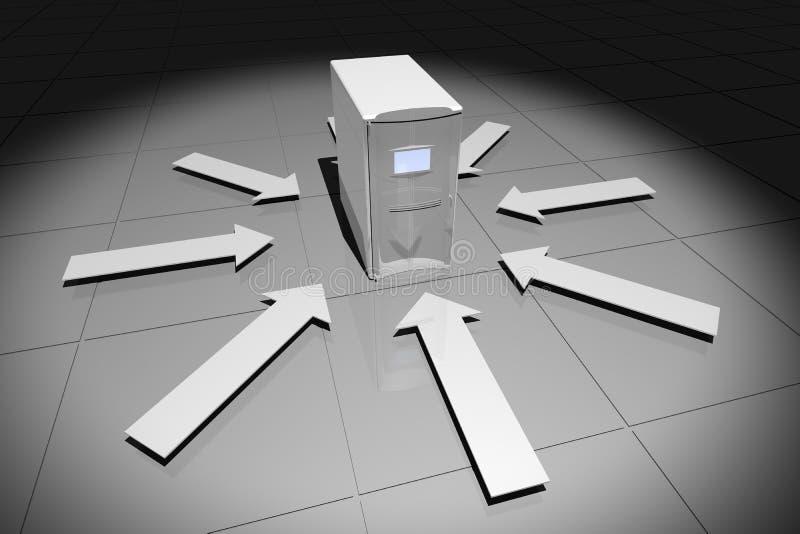 υπολογιστής βελών γκρίζ& διανυσματική απεικόνιση