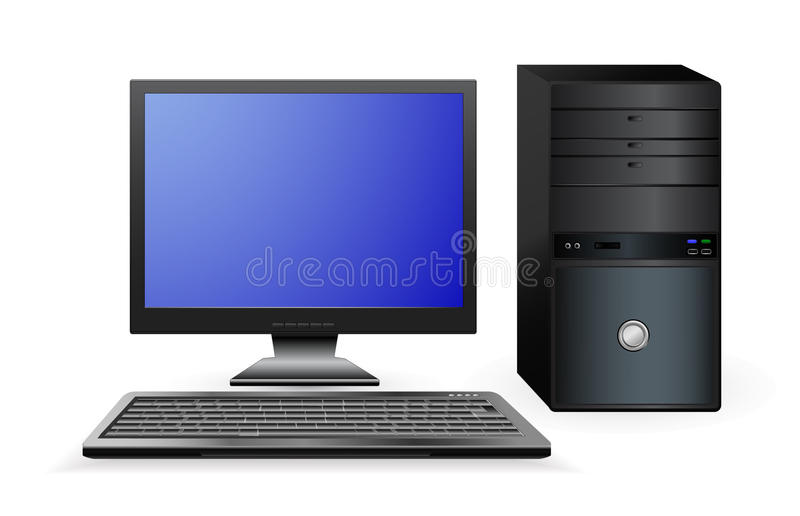 Υπολογιστής γραφείων ελεύθερη απεικόνιση δικαιώματος