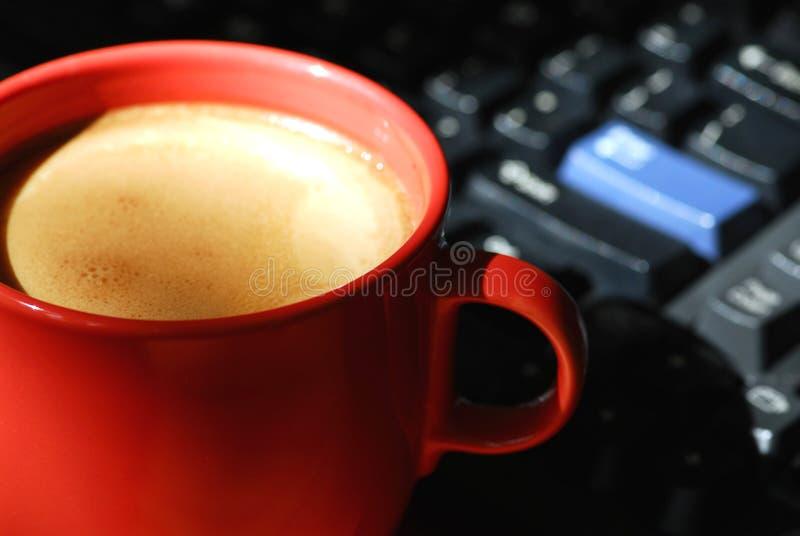 υπολογιστής καφέ στοκ φωτογραφία