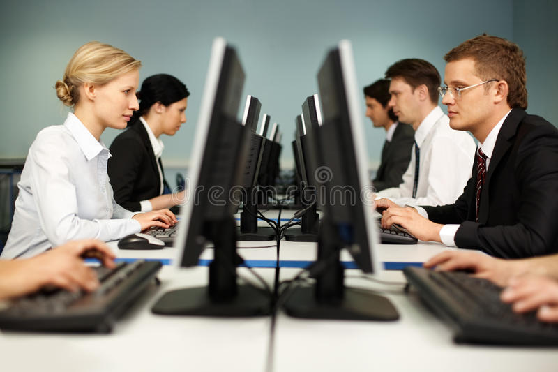 υπολογιστής κλάσης στοκ φωτογραφίες