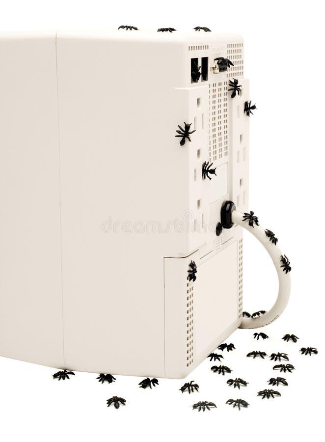 Υπολογιστής ΚΜΕ και μυρμήγκια στοκ εικόνα με δικαίωμα ελεύθερης χρήσης