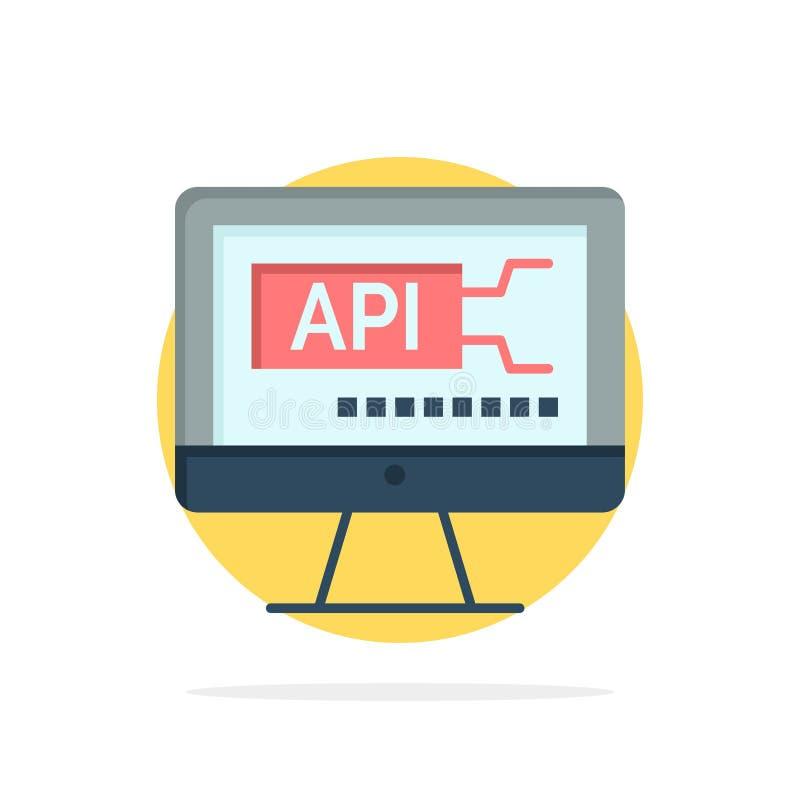 Υπολογιστής, κώδικας, κωδικοποίηση, εκπαίδευσης αφηρημένο κύκλων εικονίδιο χρώματος υποβάθρου επίπεδο απεικόνιση αποθεμάτων